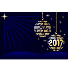 French christmas and new year 2017 background vector