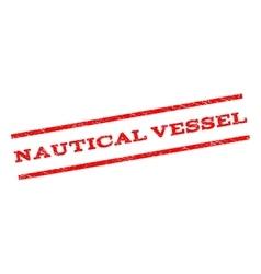 Nautical vessel watermark stamp vector