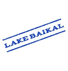 Lake baikal watermark stamp vector