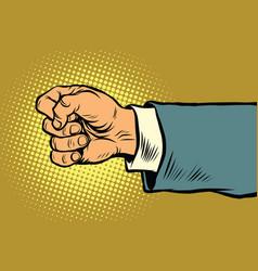 Hand of a businessman beats fist vector