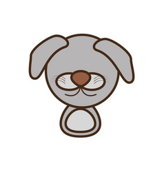 Face doggy cartoon animal vector