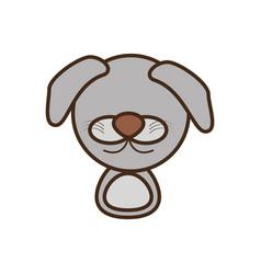 face doggy cartoon animal vector image