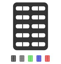 Pill blister flat icon vector
