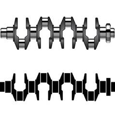 steel motor crankshaft vector image