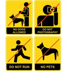 Forbidden signs vector