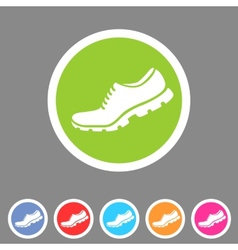 Running shoe sneaker trainer flat icon vector