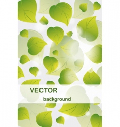 background from flying green l vector image