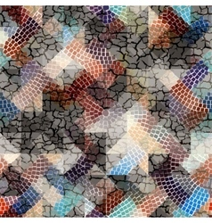 Grunge mosaic with cracks vector