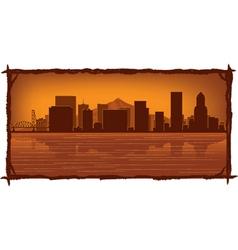 Portland skyline vector