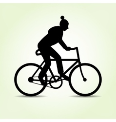 Teenager guy goes by bike male bicycle icon vector