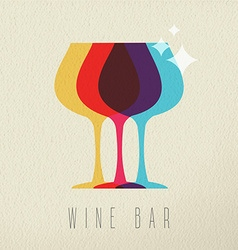 Wine bar concept glass drink icon color design vector