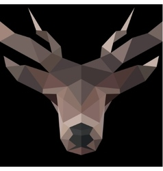 Deer low poly polygons horned vector