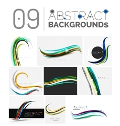 Set of wave abstract backgrounds vector