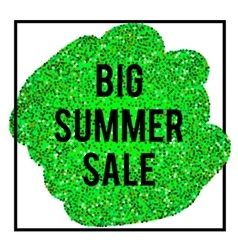 Summer sale banner on glittering background vector