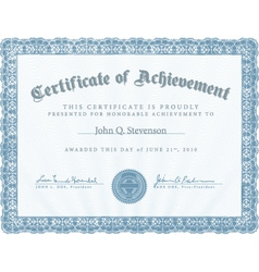 Achievement certificate vector