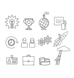 Business thin line icons set vector image vector image