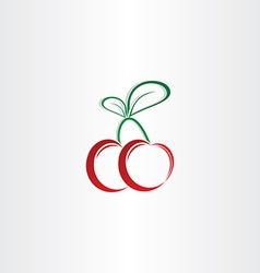 Cherry symbol design element vector