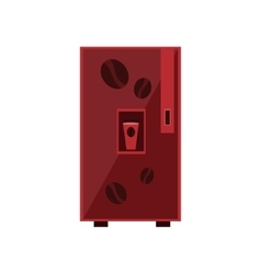 Coffee vending machine design vector