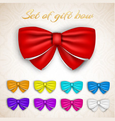 Colorful gift bows set vector