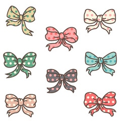 cute ribbons set vector image vector image