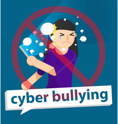 Cyber bullying girl vector