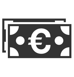 euro banknotes flat icon vector image