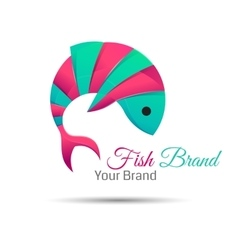 Fish logo design abstract icon creative vector