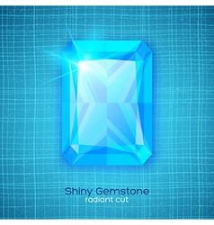 Gemstone on textured background vector