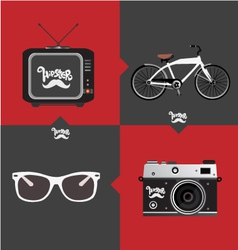 Hipster objects vector image vector image