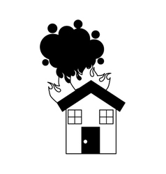 House insurance isolated icon vector