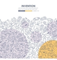 invention Doodle Website Template Design vector image vector image