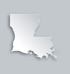 Map of Louisiana vector image