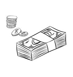 money sketch vector image