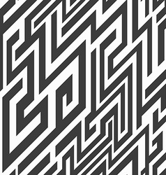 monochrome line seamless pattern vector image vector image
