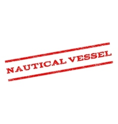 Nautical vessel watermark stamp vector