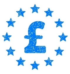 Pound stars grainy texture icon vector