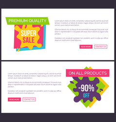 premium quality hot sale only weekend big discount vector image vector image