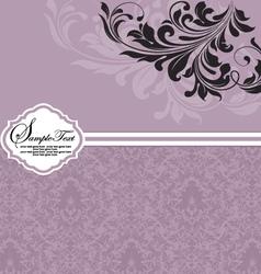 purple invitation card design vector image