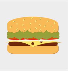 set classic burger vector image