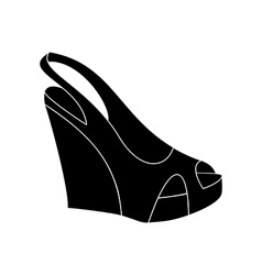 Shoes on platform vector image vector image