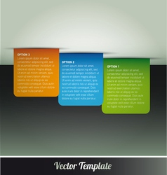 Tab Option Page Template vector image vector image