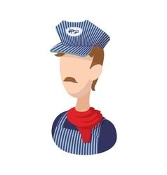 Train conductor cartoon icon vector