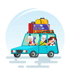 travel in old age concept flat design vector image