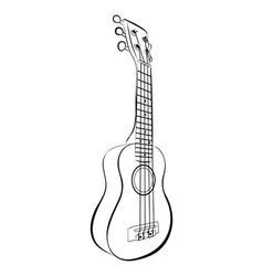 Ukulele guitar cartoon vector
