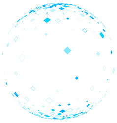 white ball with blue rhombs vector image vector image
