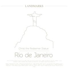 World landmarks rio de janeiro brazil christ the vector