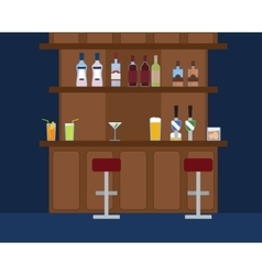 Party bar with lots of different alcohol drinks vector