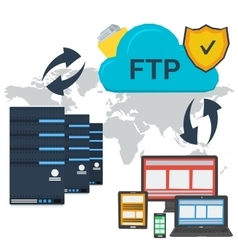 Internet ftp server and online storage vector
