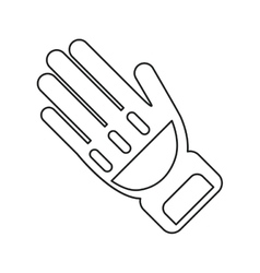 Glove protection fireman elements line vector