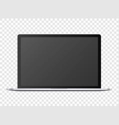 Open notebook template black digital portable vector